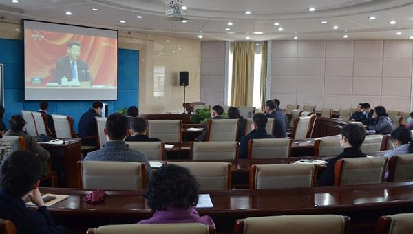 东北师范大学人文学院召开3月份理论中心组学习(扩大)会议