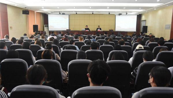 共青团潍坊市委书记赵中国来山东经贸职业学院做专题报告