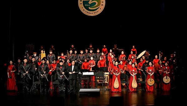 临沂大学民族交响乐团亮相全国第六届大学生艺术展演