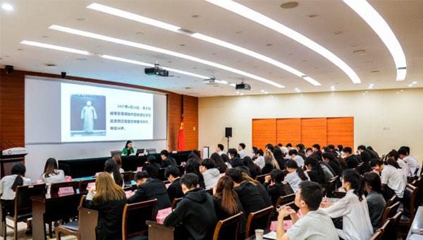 江苏经贸职业技术学院王志凤副校长为经贸学子作党史学习教育专题报告