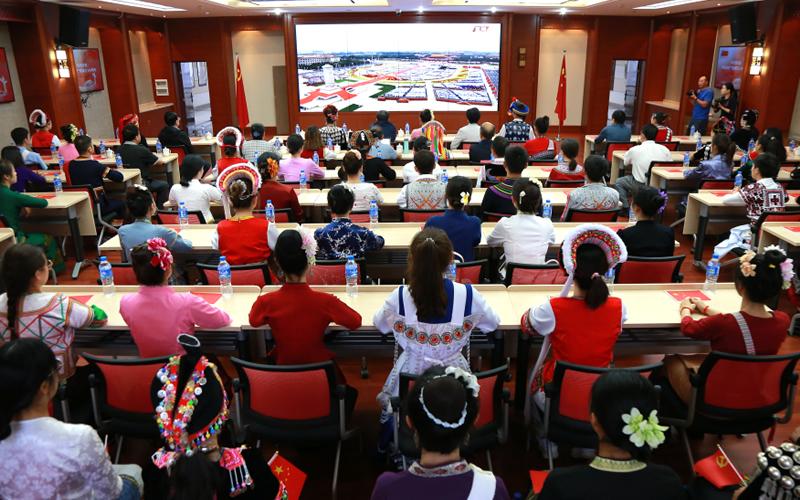 云南民族大学组织师生收看庆祝中国共产党成立100周年大会
