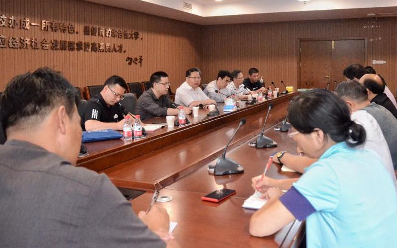 嘉兴南湖学院党委书记盛付祥主持召开防台抗台工作会议