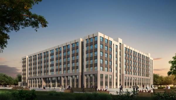 吉林交通职业技术学院实训楼等扩建项目学生公寓项目顺利封顶