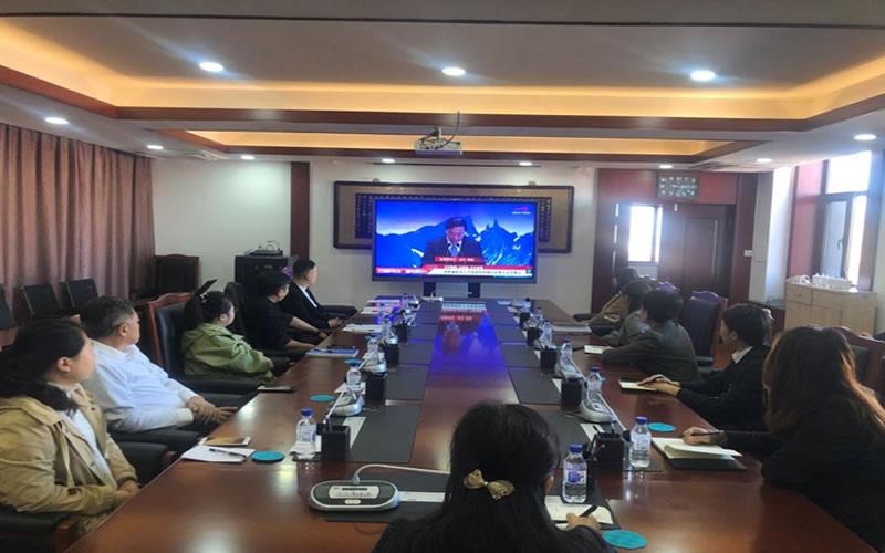白城医学高等专科学校组织师生收看吉林省校友人才促进吉林振兴发展大会开幕式